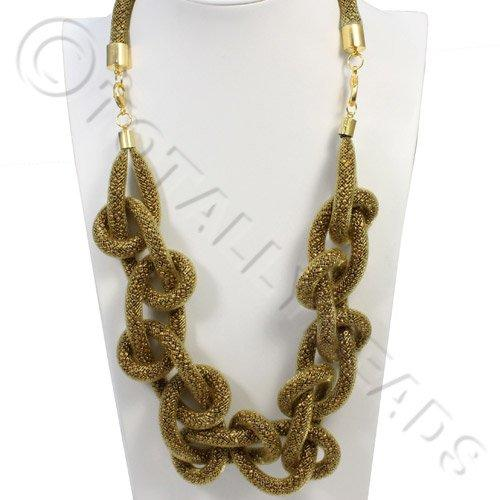 Loop Mesh Necklace - Bronze