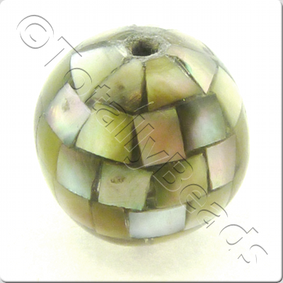 Abalone Shell Bead - Grey