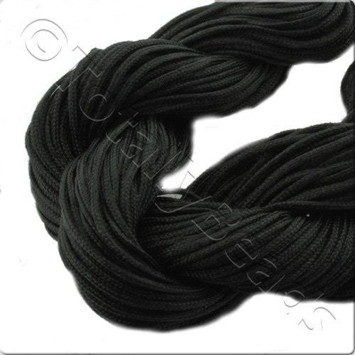 Rattail Cord 1mm Black - 10m
