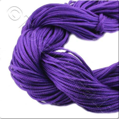 Rattail Cord 1mm Purple - 10m