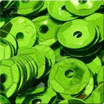 Sequins - 6mm Cup - Metallic Lime Green