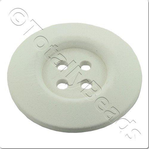 Wooden Button 30mm - White