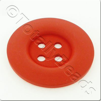 Wooden Button 50mm - Red
