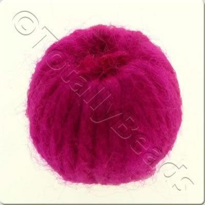 Wool Bead 22mm - Fuchsia