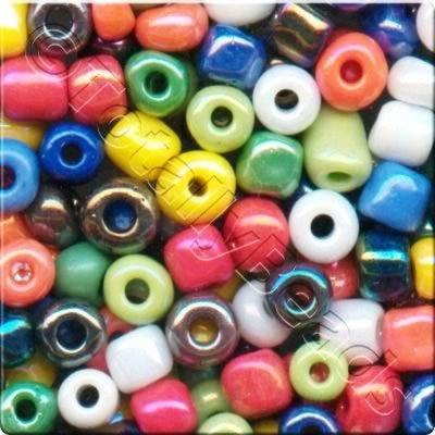 Seed Beads Opaque Rainbow  Mixed - Size 6