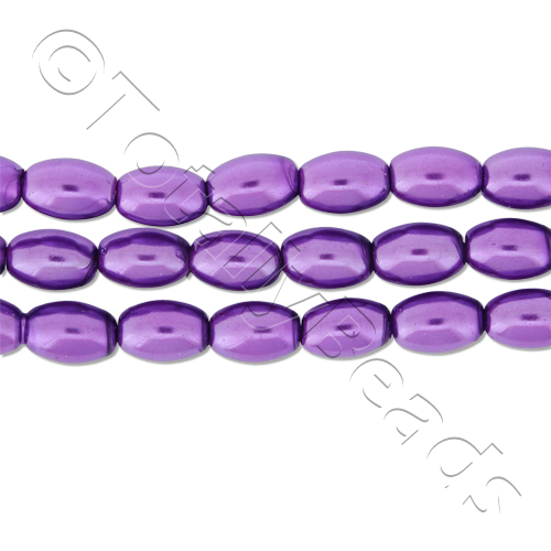 Glass Pearl Rice - Amethyst
