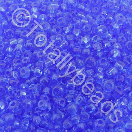 Seed Beads Transparent  Blue - Size 8