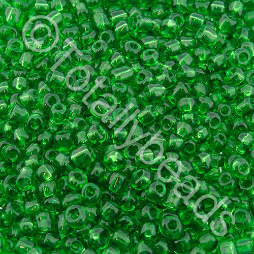 Seed Beads Transparent  Green - Size 8