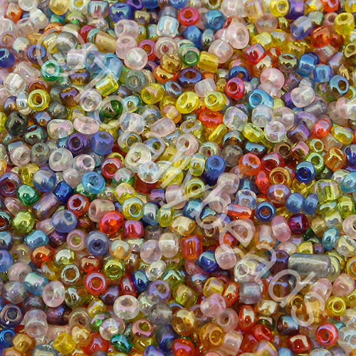 Seed Beads Transparent Rainbow  Mixed - Size 11