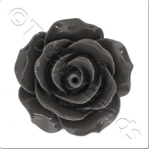 Acrylic Rose 25mm 2 Row - Grey
