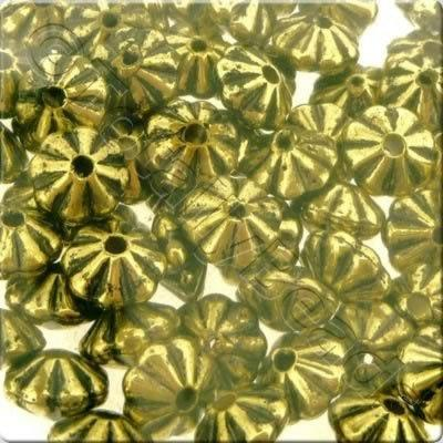 Acrylic Antique Gold Bead - 6mm Rondelle