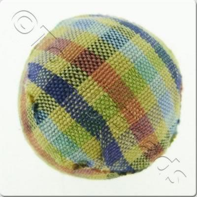 Chequered Cloth Bead 20mm - C14