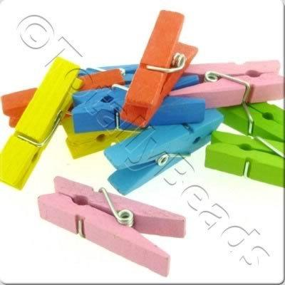 Childrens Wooden Bead - Clothes Peg