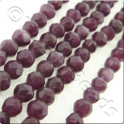 Plum Dyed Stone 3mm Facet Round