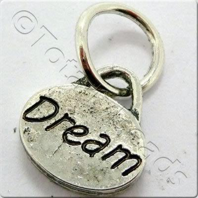 Tibetan Silver Message Tag/Charm - Dream