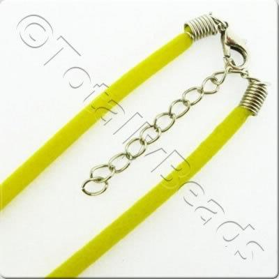 Velour Necklace Cord - Yellow