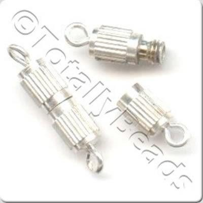 Screw Catch 15mm - Silver Plated - 10 Pieces