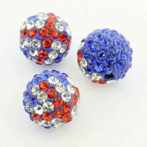 Shamballa Bead 10mm Round - Union Jack