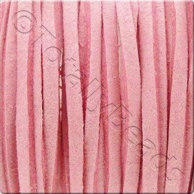 Suede Cord Pink - 3mm - 5m Spool