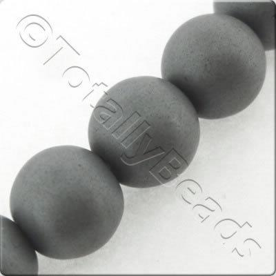 Unpolished Hematite - Round 8mm
