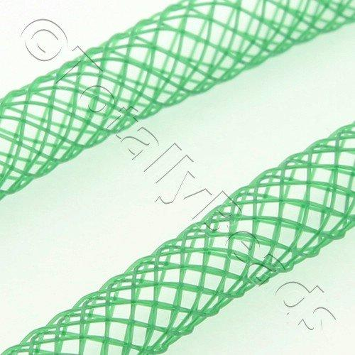 Nylon Mesh Tubing 4mm Green - 4m pack