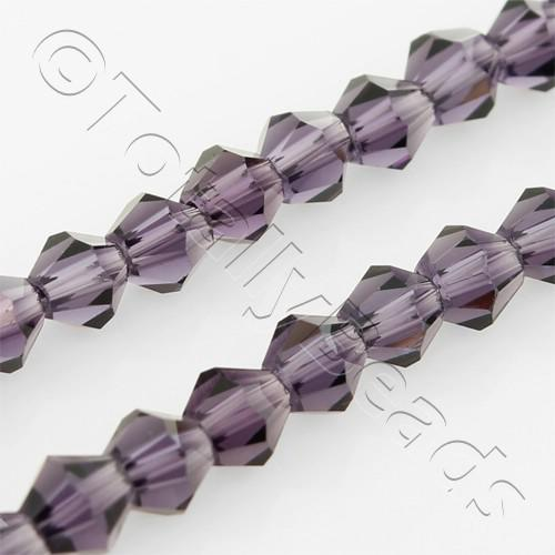 Crystal Bicone 4mm - Purple Shimmer