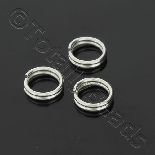 Split Rings 6mm - Silver Plated
