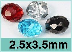2.5x3.5mm Crystal Rondelle