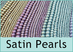 Satin Glass Pearl Beads