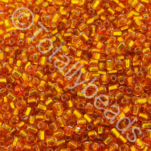 Seed Beads Silver Lined  Orange - Size 11