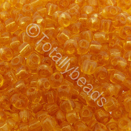Seed Beads Transparent  Gold - Size 6