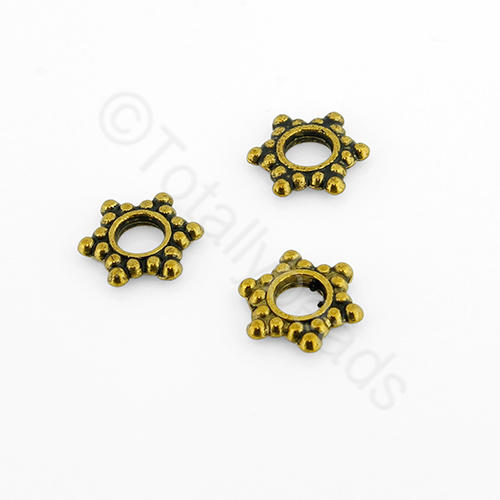 Tibetan Gold Bead - Flat Star