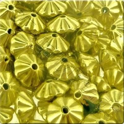 Acrylic Gold Bead - 6mm Rondelle