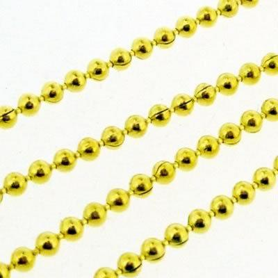 Ball Chain 1.5mm - Gold Plated - 1m