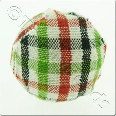 Chequered Cloth Bead 20mm - C17