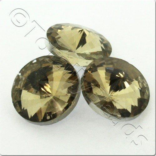Crystal Rivoli - 16mm Smoky Champagne