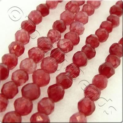 Ruby Dyed Stone 3mm Facet Round