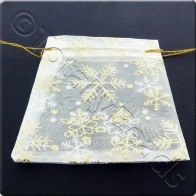 Gift Bag - White and Snowflakes