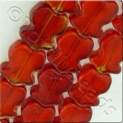 Glass Tulip 10mm Red
