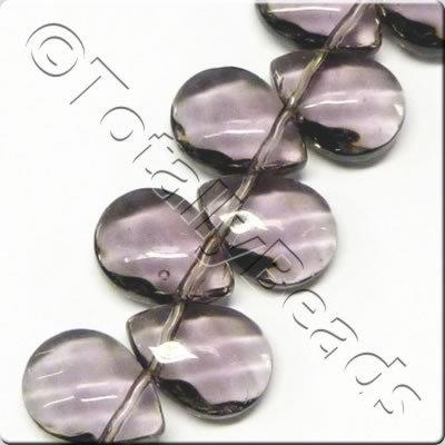 Glass Top Drilled Facet Drop - 9x12mm - Pale Purple - 42pcs