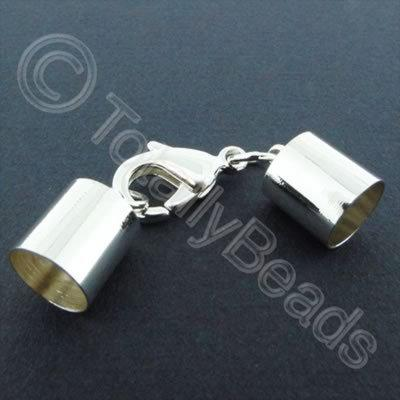 Kumihimo 10mm Barrel Lobster Clasp Silver - 1 set