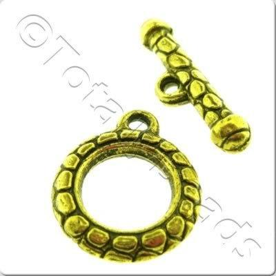 Tibetan Gold Toggle - Ring 20mm A9133
