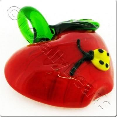 Lampwork Pendant - Apple 35mm - LPR63