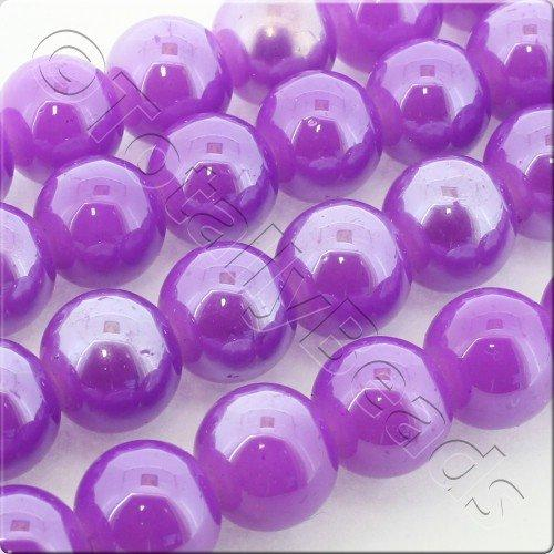Luster Glass Bead 10mm Round - Purple