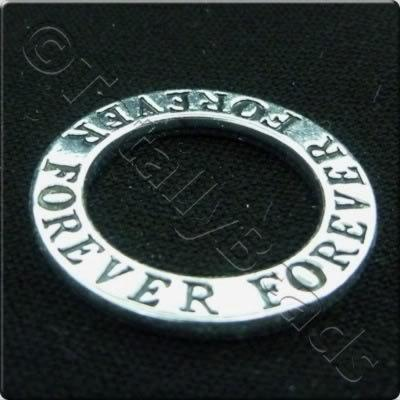 Tibetan Silver Message Ring - Forever