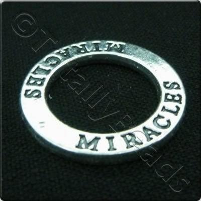Tibetan Silver Message Ring - Miracles