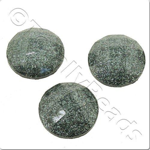 Resin Cabochon 10mm - Facet Sparkle Grey 10pcs
