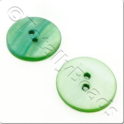 Shell Button 20mm - Green