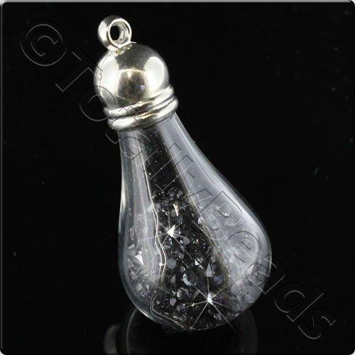 Sparkle Drop Pendant - Black Diamond