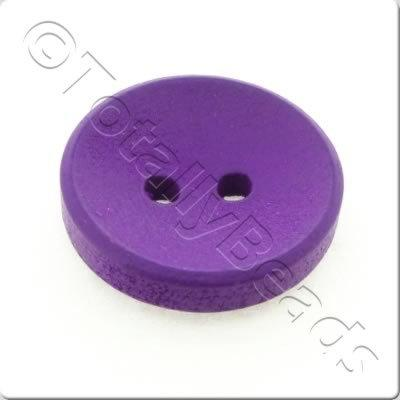 Concave Wooded Button 15mm - Purple